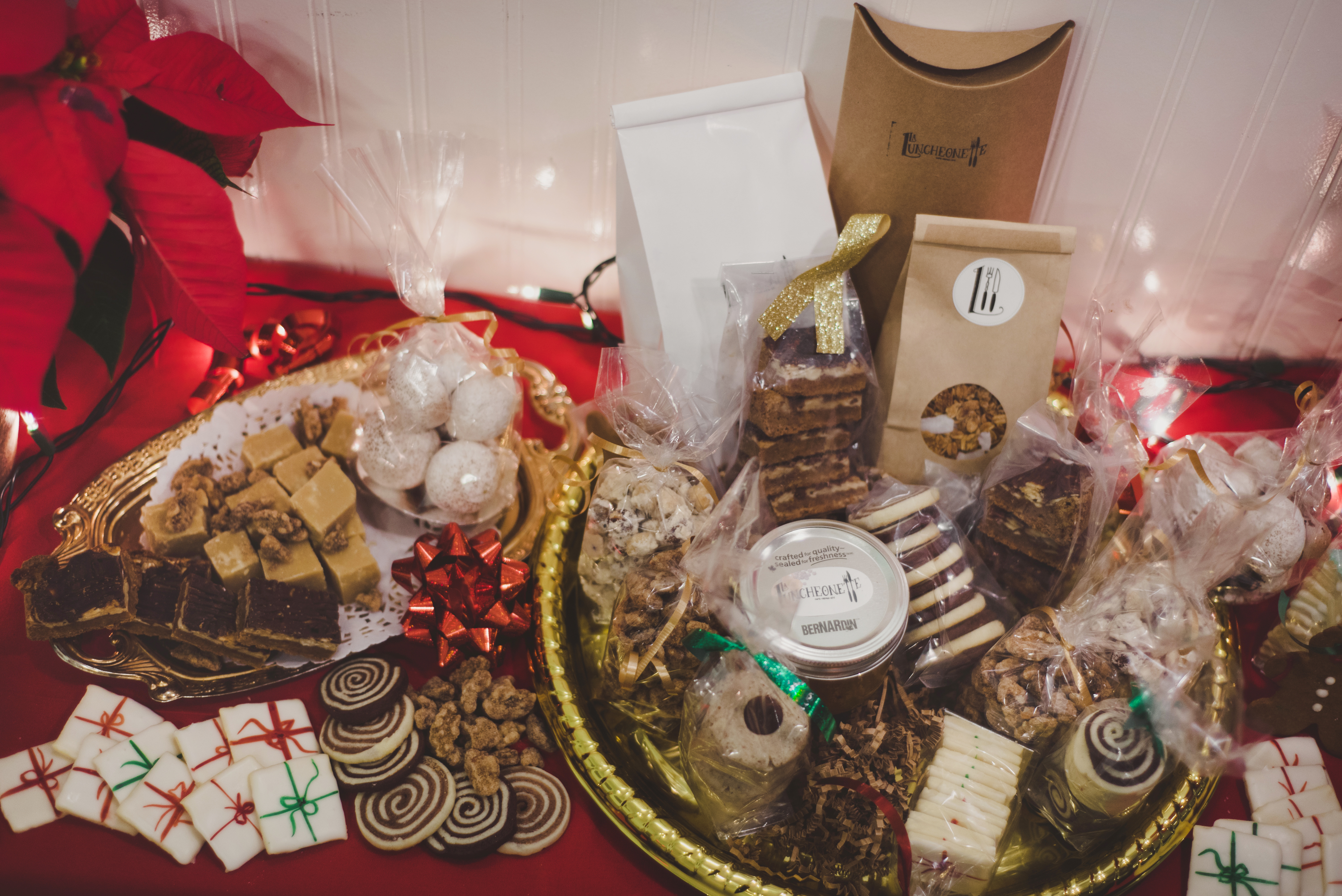 Majestic Holiday Basket of baked goods
